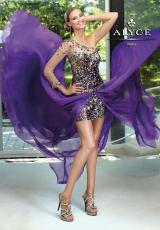2013 Alyce One Sleeved Prom Dress 6076