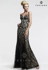 Faviana 7439.  Available in Black/Nude, Red/Red, White