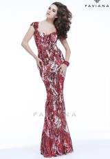Faviana S7382.  Available in Latte/Nude, Red/Nude