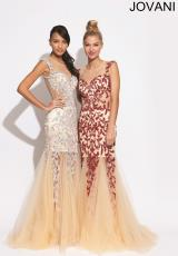 Jovani 926.  Available in Nude/Black, Nude/Lavender, Nude/Red, Nude/Silver