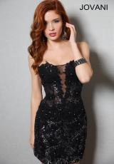 Jovani Cocktail 89930.  Available in Black/Silver