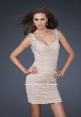 2012 Short Ruched La Femme Dress 17021