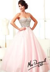 MacDuggal 61184H.  Available in Nude/Silver, Pink/Silver