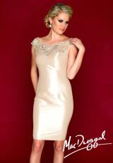 MacDuggal Cocktail 61550R.  Available in Black/Silver, Nude/Silver