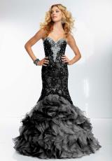 Mori Lee 95120.  Available in Black, Crystal Blue