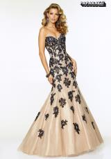 Mori Lee 97005.  Available in Black/Nude, White/Nude