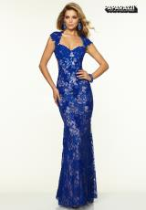 Mori Lee 97038.  Available in Hot Pink/Nude, Royal/Nude