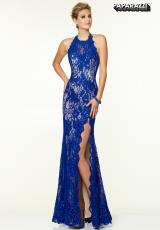 Mori Lee 97101.  Available in Red/Nude, Royal/Nude