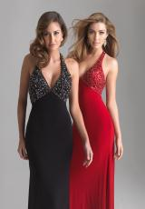 2013 Night Moves Halter Back Prom Dress 6705