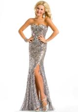 Party Time Formals 6051.  Available in Platinum