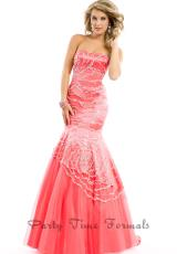 Party Time Dresses 6443.  Available in Coral, Royal