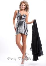 Party Time Dresses 6448.  Available in Black/Silver, Red/Silver, Royal/Silver