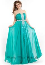 Party Time Dresses 6616.  Available in Teal, Wild  Fire