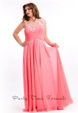 Party Time Formals 6621.  Available in Soft Coral, Turquoise