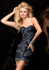 2014 Scala Short Silver Homecoming Dress 47590