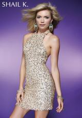 2013 Shail K Short Prom Dress SK3171