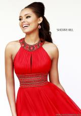 Sherri Hill 11086.  Available in Coral, Emerald, Purple, White
