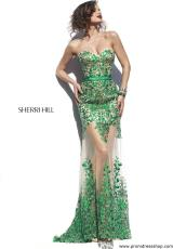 Sherri Hill 1935.  Available in Nude/Emerald, Nude/Purple, Nude/Red, Nude/Royal, Nude/White