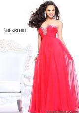 21097 Sherri Hill Long Flowy Prom Dress