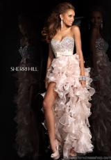 Sherri Hill 21158.  Available in Aqua, Black/Nude, Fuchsia, Light Blue, Navy/Nude, Plum/Nude