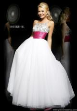 Sherri Hill 21288.  Available in Aqua/Aqua, Green/Green, White/Fuchsia, White/White