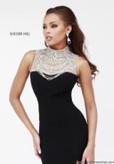 2014 Sherri Hill Beaded Top Prom Dress 21355