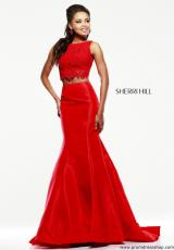 Sherri Hill 21372.  Available in Coral, Emerald, Ivory, Red, Royal, Yellow