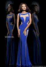 Sherri Hill 4313.  Available in Black/Nude, Red/Nude, Royal/Nude