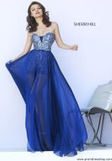 Sherri Hill 9724.  Available in Navy, Orchid, Ruby, Teal