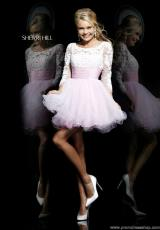 Sherri Hill Short 21234.  Available in Ivory/Nude, Pink/Ivory