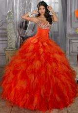 Tiffany Quinceanera 26674.  Available in Persimmon/Orange, Purple/Orchid