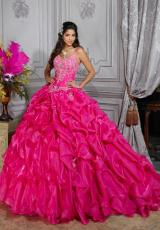 Tiffany Quinceanera 26682.  Available in Deep Purple, Fuchsia, Ivory, Turquoise, White