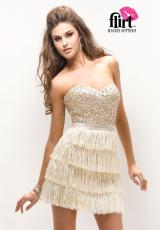 Flirt PF2120 Short Flirty Tassle Prom Dress 2013