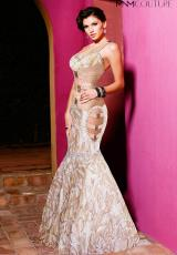 2014 MNM Couture Sheer Bodice Prom Dress 7213