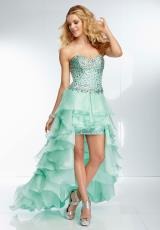 Mori Lee 95004.  Available in Mint, Pastel Yellow, Seashell Pink