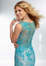 Mori Lee 95067.  Available in Champagne, Turquoise