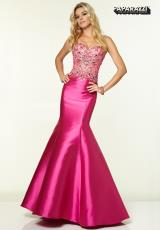 Mori Lee 97006.  Available in Fuchsia, Ivory, Royal