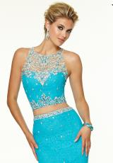 Mori Lee 97085.  Available in Bright Blue, Bright Coral