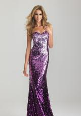 2013 Purple Fitted Night Moves Prom Dress 6627