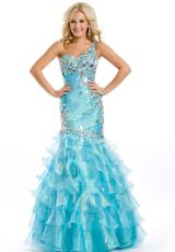 Party Time Formals 6006.  Available in Aqua Blue