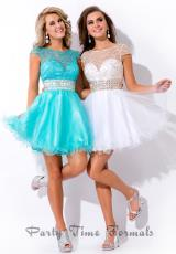 Party Time Dresses 6479.  Available in Aqua/Silver, White/Gold