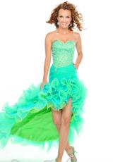 Precious Formals P52018.  Available in Lime/Turquoise, Pretty Pink