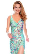 Precious Formals P9035.  Available in Mint/Raspberry Shimmer
