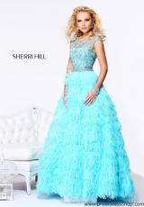 Sherri Hill 21064.  Available in Aqua/Silver, Light Blue/Silver, Nude/Silver