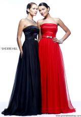 Sherri Hill 21337.  Available in Black, Red, Royal, Turquoise