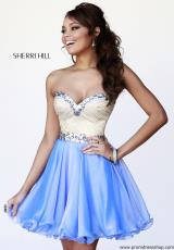 Sherri Hill Short 1929.  Available in Black, Jade, Navy, Periwinkle, Royal, Ruby, Strawberry, Teal