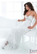 2014 Tony Bowls Evenings White Dress TBE11408