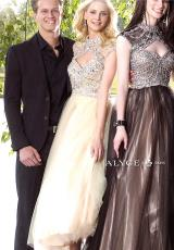 Alyce 6353.  Available in Black/Turquoise, Champagne/Nude, Mint/Champagne