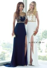 Alyce 6361.  Available in Black/Silver, Ivory/Gold, Ivory/Red, Ivory/Royal, Navy/Gold