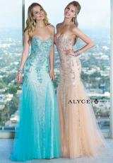 Alyce 6390.  Available in Black/Nude, Light Coral/Nude, Light Turquoise/Nude, Mint, Red/Nude